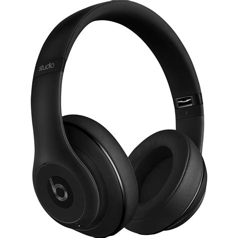 beats by dre studio matte black beats by dr dre studio wireless headphones mhaj2am a b h