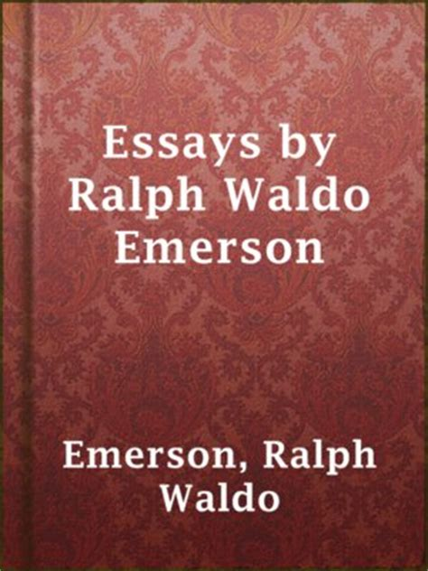 thesis of education by ralph waldo emerson project gutenberg publisher 183 overdrive rakuten