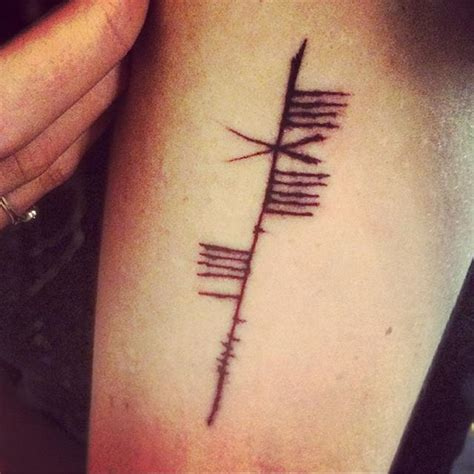 ogham tattoo best 25 ogham ideas on ogham alphabet