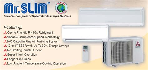 mr comfort heating and cooling mitsubishi mr slim dependable heating and air conditioning