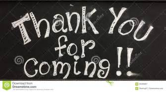 thank you for coming sign stock image image of symbol