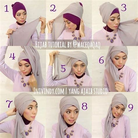 tutorial pashmina turban pesta ini vindy yang ajaib 4 tutorial hijab pesta elegan dan