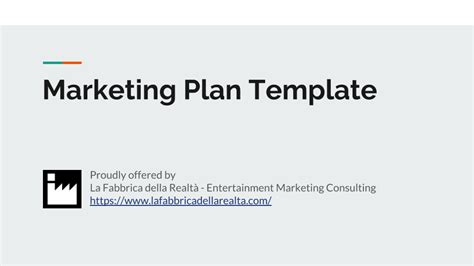 Entertainment Marketing Plan Template Don T Start From Scratch Consulting Marketing Plan Template