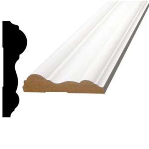 home depot chair rail alexandria moulding 3 4 in x 3 in x 96 in primed mdf