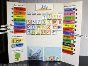 Calendar Board For Days Of The Week Calendar Board Printable From Abcs To Acts