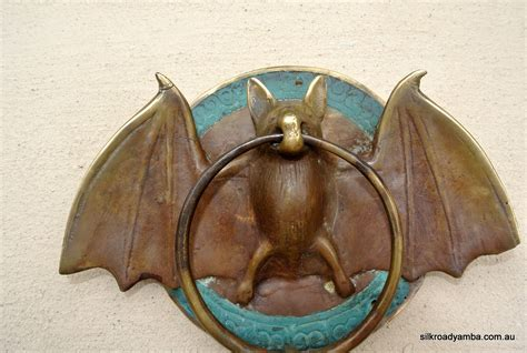 bat door knocker solid brass small heavy bat door knocker 7 unusual wings ring silk road yamba
