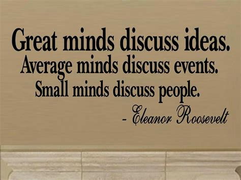good themes quotes vinyl wall decal quote great minds discuss ideas average minds