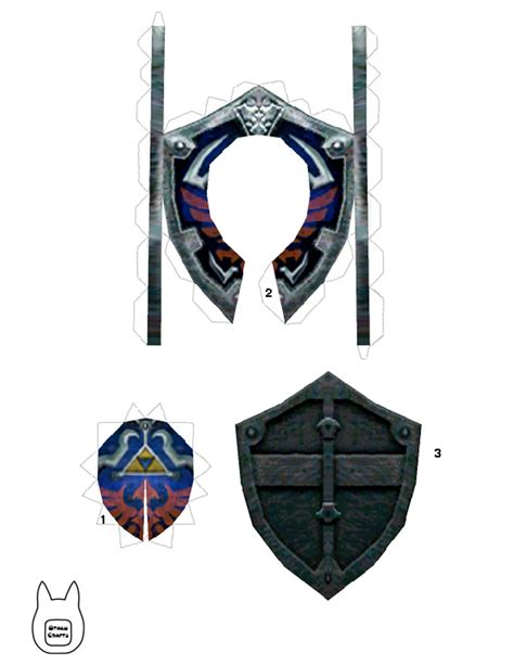 Papercraft Ornaments - otaku crafts hylian shield ornament
