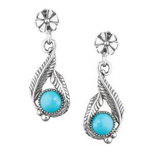 turquoise earrings silver sleeping turquoise earrings made in usa