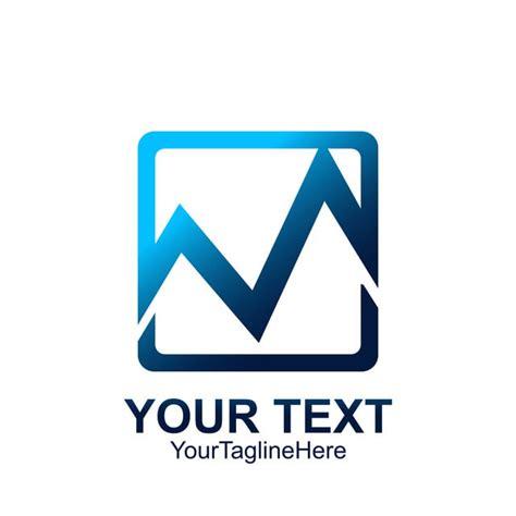 initial letter logo template colorful square design