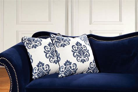 royal blue furniture 2 pcs royal blue sofa set