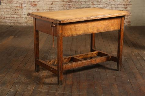 Drafting Table With Drawers Vintage Industrial Drafting Table Or Desk With Drawer At 1stdibs