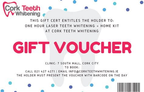 laser teeth whitening home kit gift voucher laser