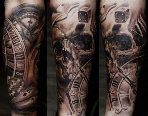 skull clock tattoo clock ideas and clock designs page 6
