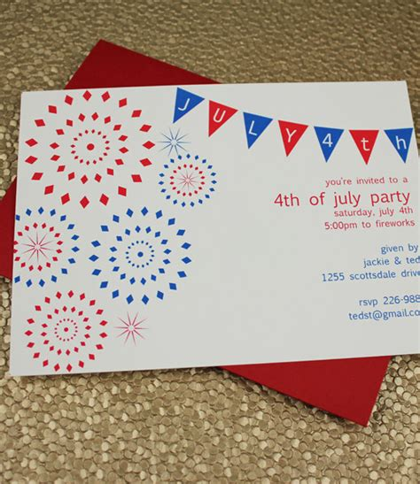 july party invitation template  print