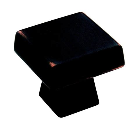 amerock square cabinet knobs amerock blackrock 1 1 2 in oil rubbed bronze square