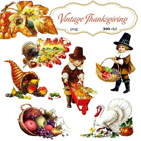 Thanksgiving Free Clip Vintage by Clip Vintage Thanksgiving Transparent Png Files 067