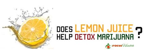 Lemon Juice Detox For Thc by Can You Get Marijuana Out Of Your System By Juicing Detox