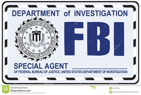 fbi special agent editorial image image of certification