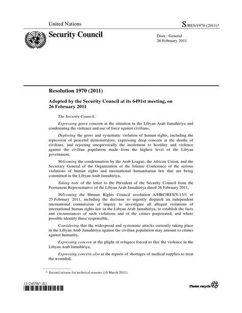 Dispense Diritto Internazionale by Libia Risoluzione Consiglio Di Sicurezza Onu Dispense