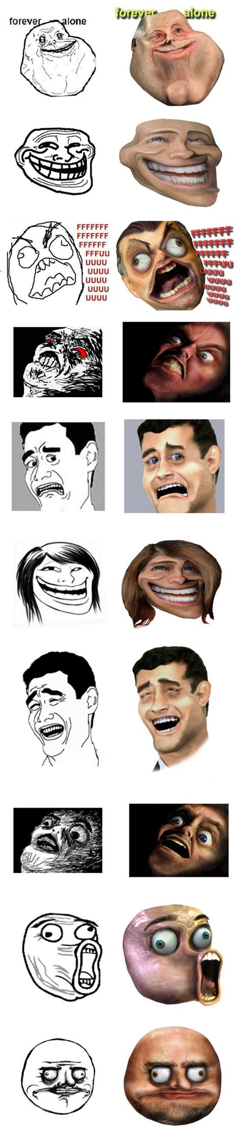 Internet Face Meme - internet emotion faces in real life the mary sue