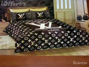 lv louis vuitton satin bedding set our home pinterest