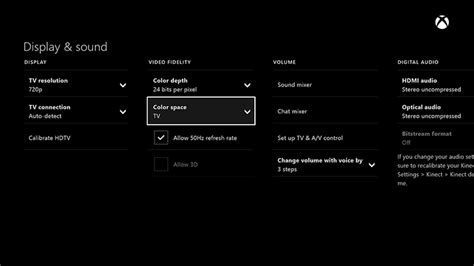 xbox one color space xbox one fuzzy tv or monitor xbox one console