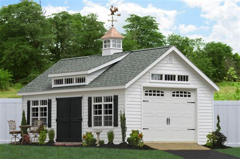 1 car garage prefab one car garage sheds traditional garage and