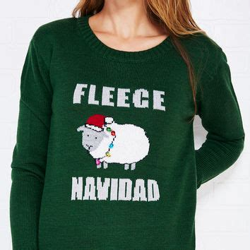 Fleece Navidad 2 fleece navidad sweater with bells from seal winter