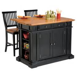 Kitchen Island Chairs With Backs The Attractive Black Kitchen Island Completed By Back Chairs Bee Home Plan Home Decoration Ideas