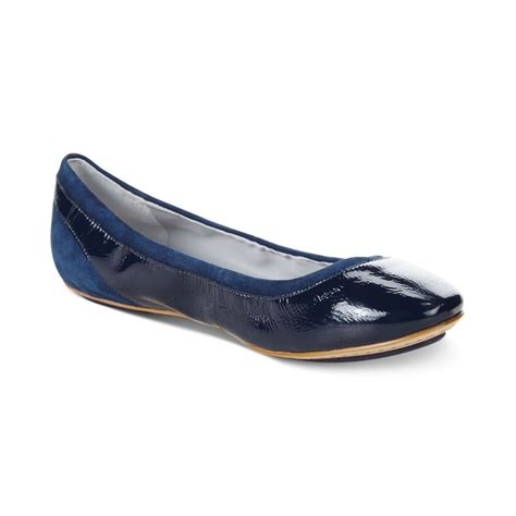 cole haan flat shoes cole haan s avery ballet flats in blue blazer blue