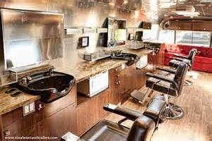 mobile barber shop based in an airstream trailer