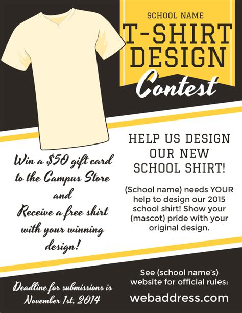 t shirt design contest maketing flyers inksoft