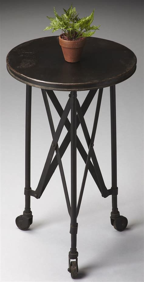 industrial accent table 1168025 industrial chic metalworks accent table from