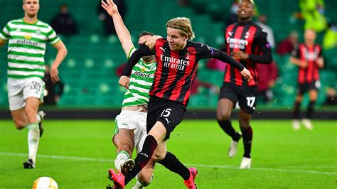 ac milan withstand late pressure  beat celtic