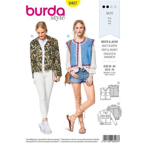 pattern review weekend 2018 burda burda style pattern b6407 misses open waistcoat vest