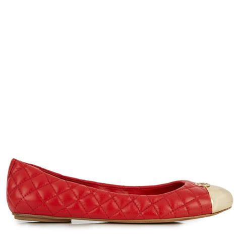 Quilted Burch Flats burch kaitlin quilted leather ballet flats in lyst