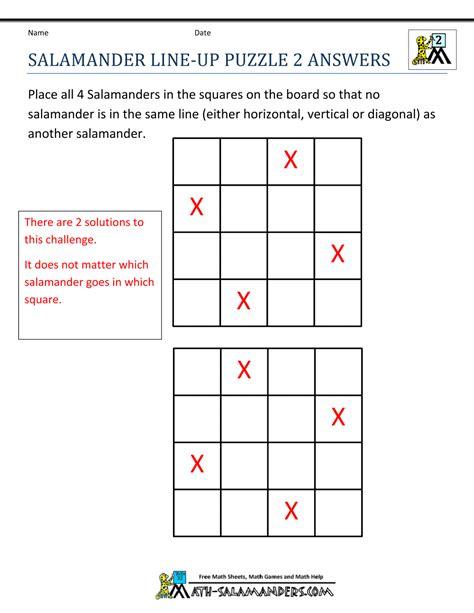 math puzzles  grade