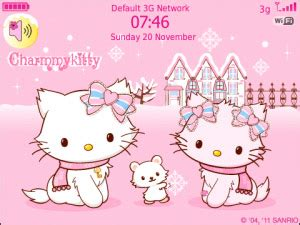 kitty themes for winter charmmy hellokitty pinky winter free blackberry themes