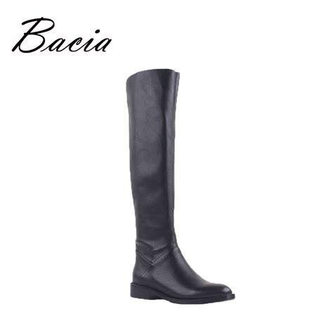 aliexpress boots aliexpress com buy bacia leather pu solid black