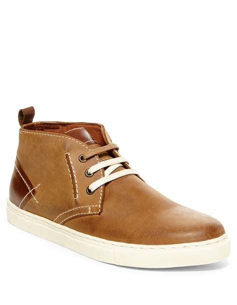 leather chukka sneaker steve madden leather chukka sneakers in brown for lyst