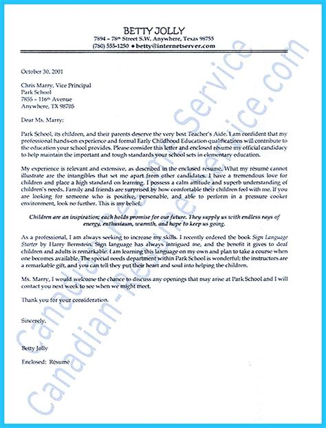 Cover Letter For Teachers Assistant Grabbing Your Chance With An Excellent Assistant Resume