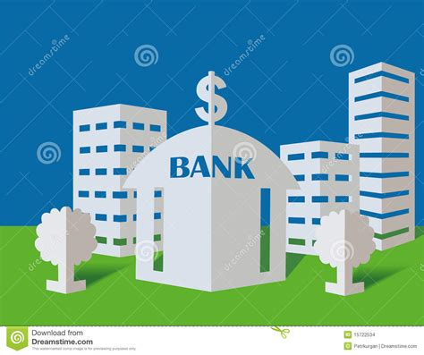 How To Make A Paper Bank - bank from a paper stock images image 15722534