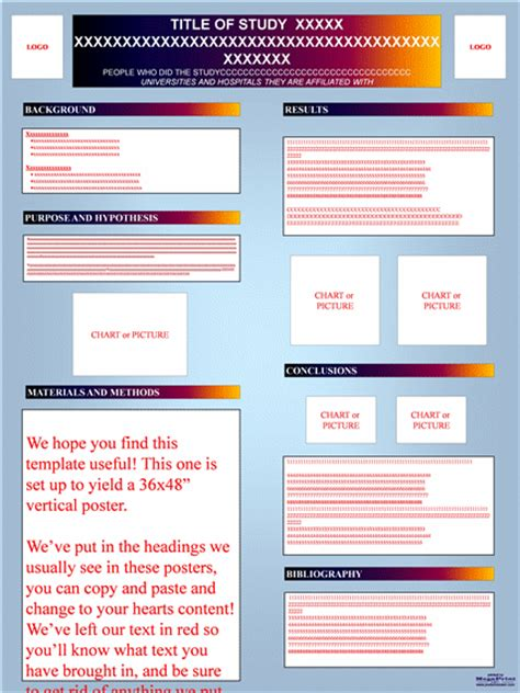 academic poster template free scientific poster template free