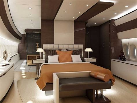private jet with bedroom interiors of boeing 747 8 dream private jet