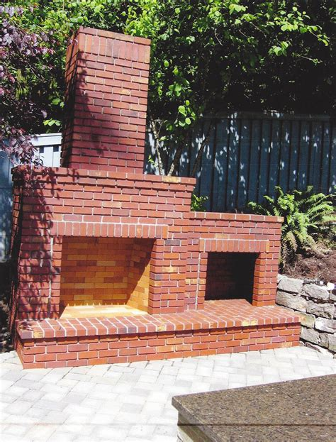 backyard brick fireplace outdoor living northwest products fireplaces and firepits