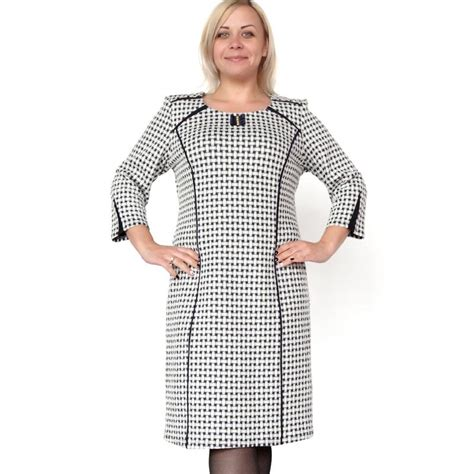 pattern dress black and white plus size xl 6xl fashion black and white weave pattern o