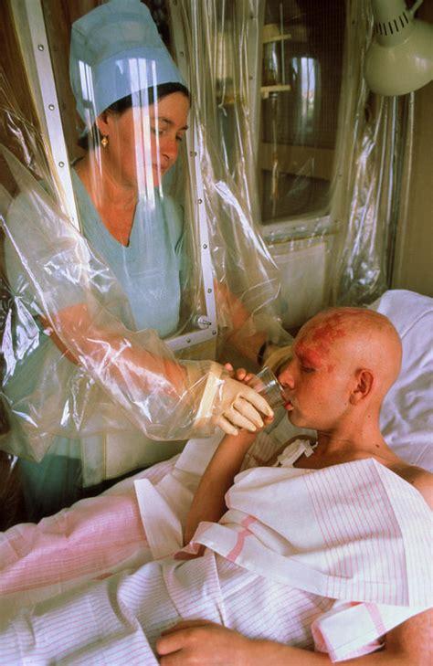 chernobyl cancer patient in sterile hospital room