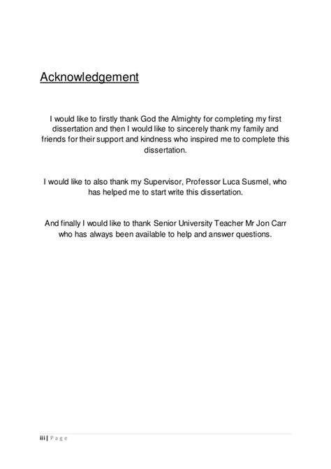 thesis acknowledgement almighty dissertation