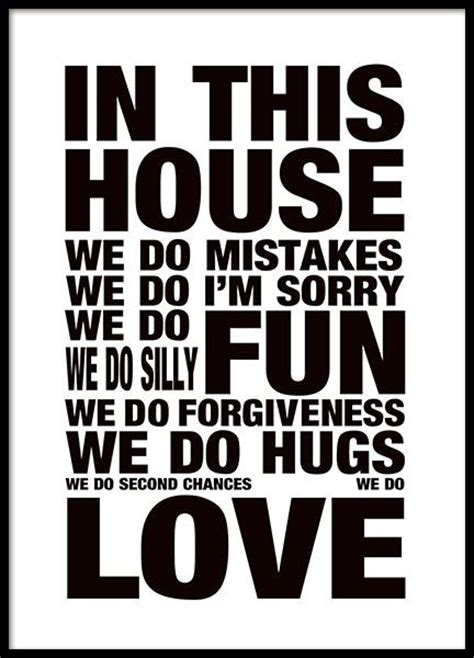 house rules home design tavla med house rules poster med text